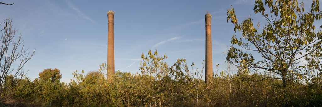 Poe Mill Smoke Stacks, 2012